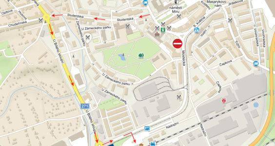 Změna dopravního značení u nádraží